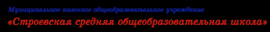 «Строевская средняя общеобразовательная школа».