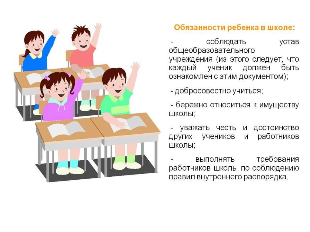 4. Обязанности ребенка в школе